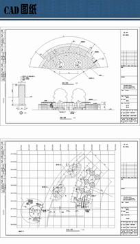 中心花坛设计平立面图 dwg