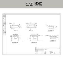 座凳大样图 CAD