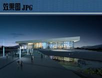 博物馆正面夜景效果图 JPG