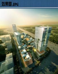 产业园区建筑鸟瞰图 JPG
