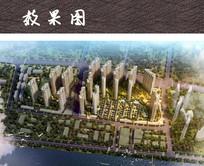 大都市住宅区鸟瞰效果图