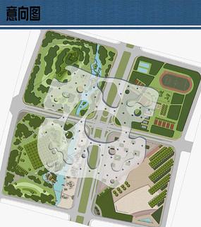 大型场馆设计景观平面布局 JPG