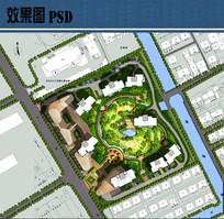 高档住宅景观设计平面PSD