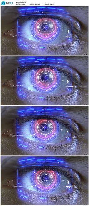 高科技眼睛全息圖投影視頻  mp4