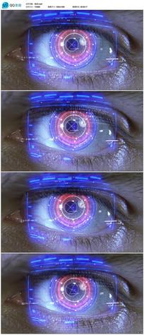 高科技眼睛全息图投影视频  mp4