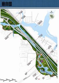 高速公路公园景观设计平面图