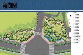 环道路节点公园平面图