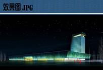 会展中心夜景透视图 JPG