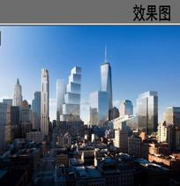 贸易中心建筑效果图