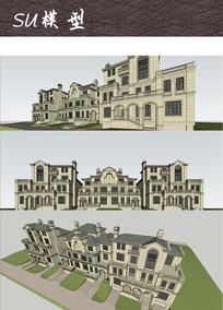欧式别墅住宅建筑
