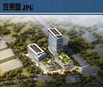 企业园建筑设计鸟瞰图 JPG