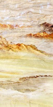 日照金山天然大理石纹玄关