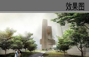 商业办公大楼设计效果图