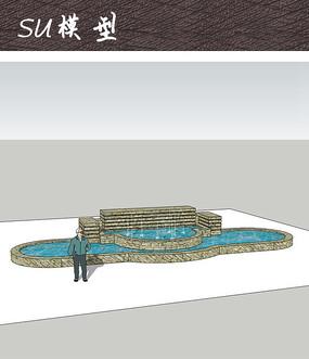 商业广场喷泉水景