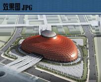 世博会场馆设计鸟瞰效果图