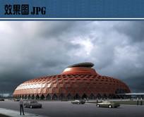 世博会场馆设计透视效果图
