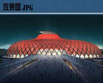 世博会场馆设计主入口效果图