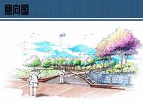 水景墙手绘效果图 JPG