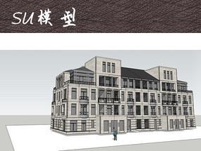 四层现代别墅建筑