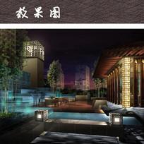 屋顶花园效果图 JPG