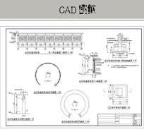 五行会道文化墙 CAD