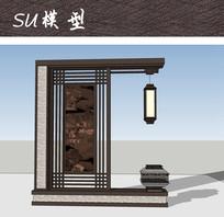 现代中式装饰小品SU