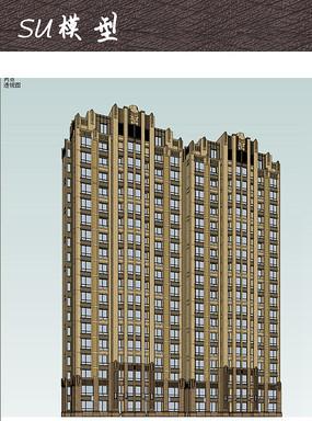 小区住宅建筑模型