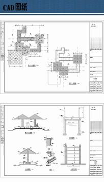 园林亭廊设计cad