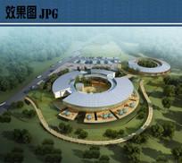 展馆建筑鸟瞰图 JPG