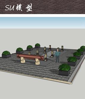 中式公园广场小品