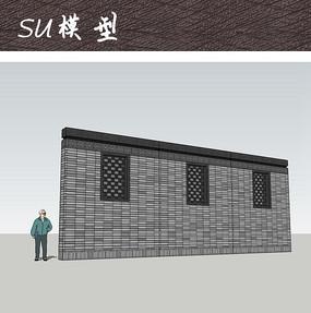 镂空雕花隔断设计 3d模型@镂空狮子 新款镂空花窗景墙照壁su 住宅镂空图片