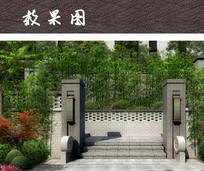 中式入户围墙 JPG