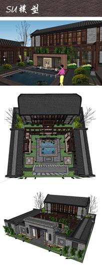 中式院落住宅景观