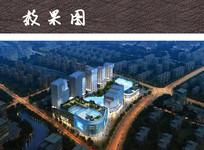 综合购物体建筑鸟瞰图