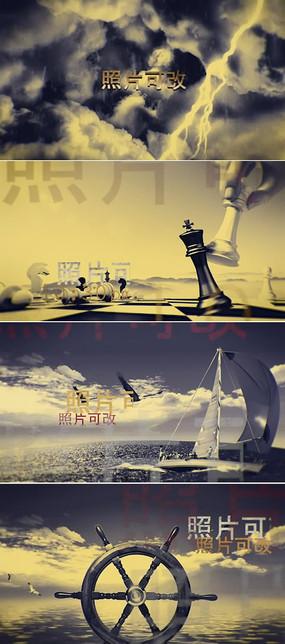 大气天空云层标题字幕片头模板 aep