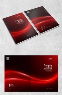 红色华丽弧线封面 PSD