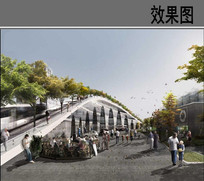桥型建筑设计效果图 JPG