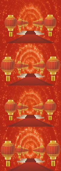 喜庆灯笼红地毯节日背景视频