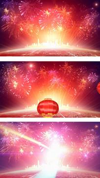 喜庆新年背景视频