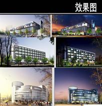 郑州某景观街超市建筑 JPG