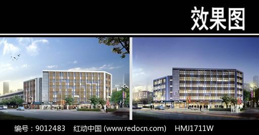 郑州某景观街地震局办公楼建筑图片