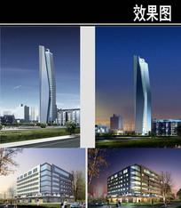郑州某景观街规划宾馆效果图 JPG