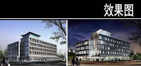 郑州某景观街中医院建筑