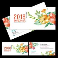 2018新春艺术贺卡设计