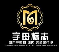 M字母酒店装修公司LOGO