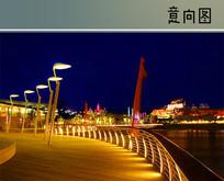 滨水平台夜景