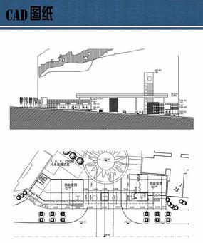 厂区入口大门方案平立面