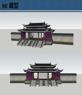 道教古建SU模型