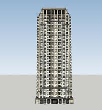 高层小区建筑SU