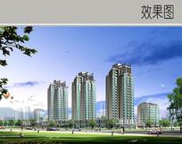 高层住宅建筑透视图 JPG